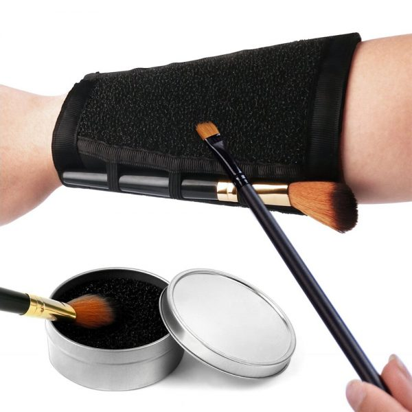 Armband Makeup Brush Clean Arm Sponge Dry Cleaner Eyeshadow Cleaning Cosmetic Arm Remover Color Dedicated Washing Tool