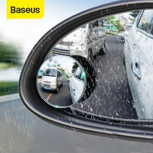 Baseus 2pcs Car Rear View Mirror Full Vision 360 Degree Wide Anger Parking Assitant Waterproof Auto Rearview Blind Spot Mirror