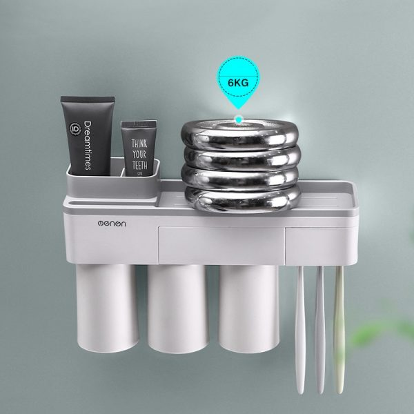 3 Color Good Quality Toothbrush Holder Cup Makeup Cleanser Phone Bathroo Storage Toothpaste and Toothbrush Holder Wall Mount