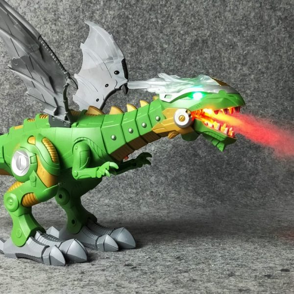2019 Newest Electric interactive Dinosaurs toys talking and walking Fire Dragon & Dinosaurs For Games Kids Toys Christmas Gift