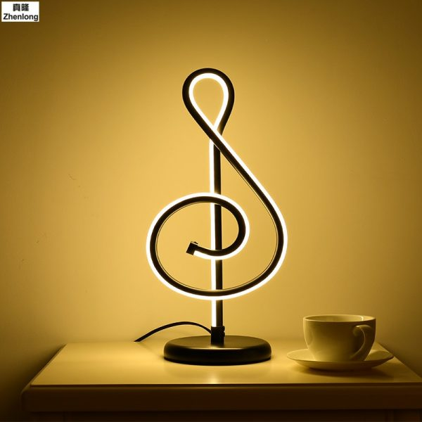Musical Notes Table Light Bedside Bedroom Table Lamp Home Decor modern Led eye protection Creative romantic remote control