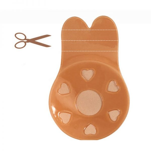 Women Push Up Bras For Self Adhesive Silicone Strapless Invisible Bra Reusable Sticky Breast Lift Up Tape Kawaii Rabbit Bra Pads