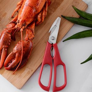 1PCS Stainless Steel Seafood Scissors Lobster Fish Prawn Peeler Shrimp Crab Shears Snip Shells Kitchen Seafood Tools