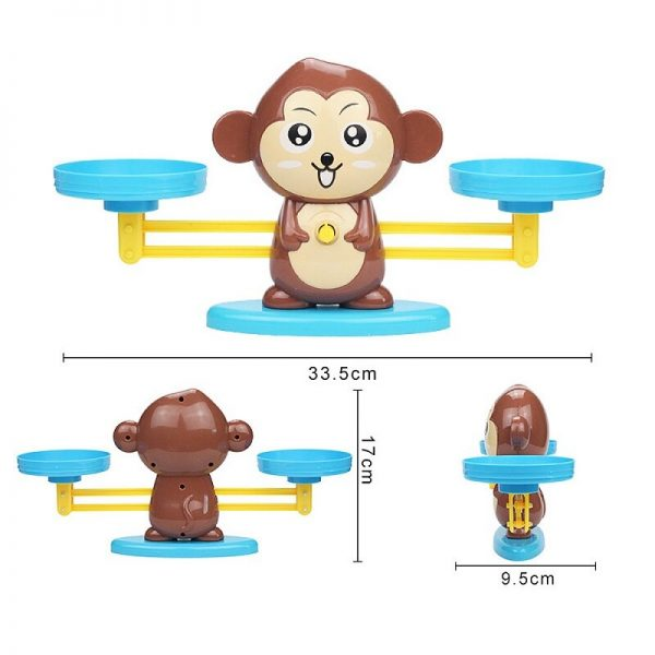 Montessori Math Balancing Scale Educational Toy For Baby Number Board Game Monkey Pig Cat Animal Kid Learning Math Toys