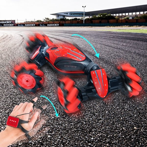Gesture Induction RC Stunt Car Twisting Off-Road Vehicle Light Music Drift Dancing Side Driving RC Toy for Kids