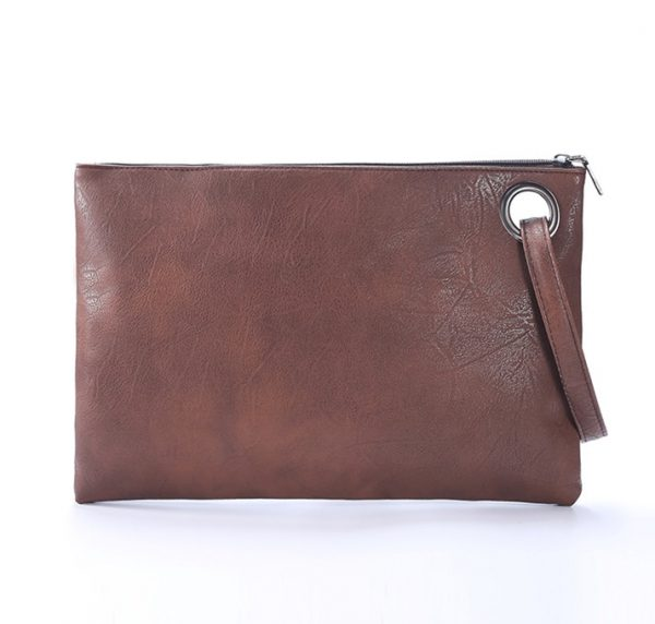 Fashion solid women's clutch bag leather women envelope bag clutch pu leather bag female Clutches sac Immediately shipping